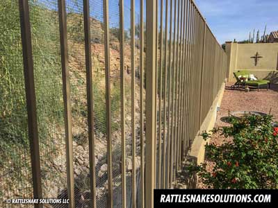 Snake Fence And Arizona Rattlesnake Prevention Fencing Installation